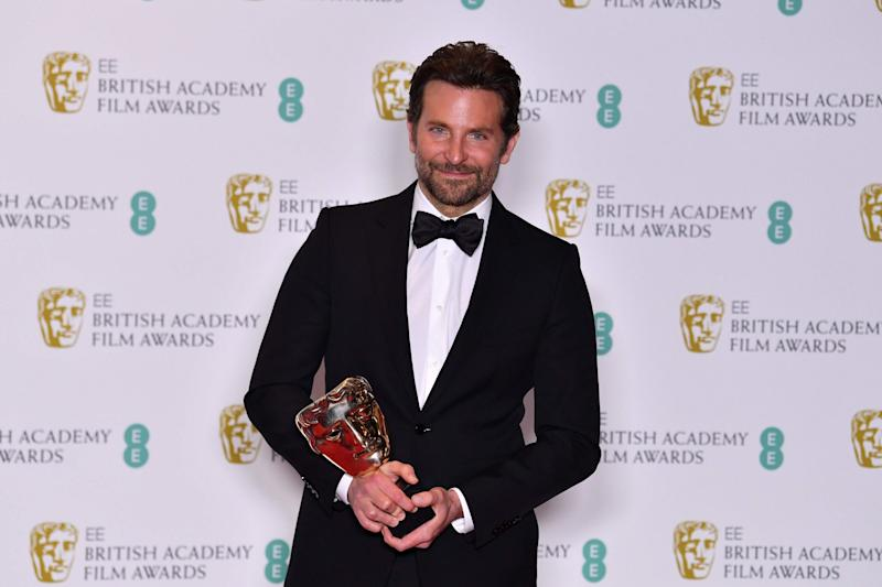 Winner: Bradley Cooper picked up the Original Music Award on Sunday night for A Star Is Born (AFP/Getty Images)
