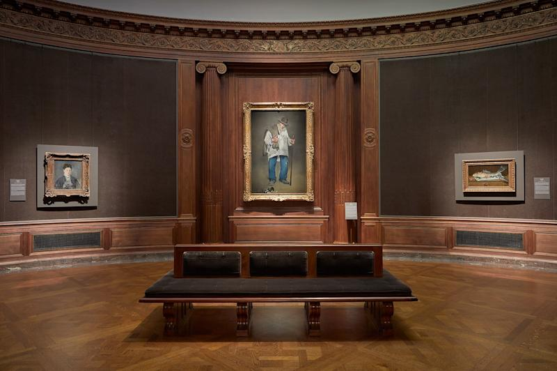 Installation view of Manet: Three Paintings from the Norton Simon Museum.