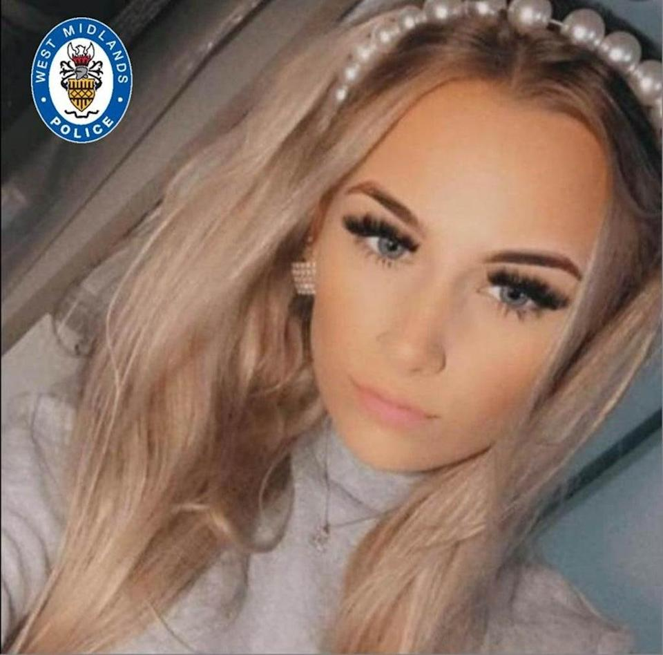 Lucy Tibbetts, 16, who died in the crash (West Midlands Police)