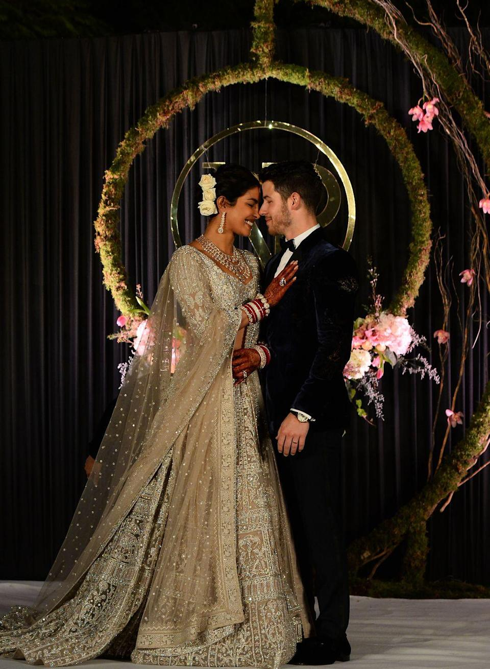 "<p>As part of their <a href=""https://www.elle.com/uk/life-and-culture/a25452517/priyanka-chopra-has-revealed-her-and-nick-jonas-full-family-wedding-portraits/"" rel=""nofollow noopener"" target=""_blank"" data-ylk=""slk:wedding celebrations"" class=""link rapid-noclick-resp"">wedding celebrations</a>, the couple host a reception and concert in India which event welcomed the country's Prime Minister Narendra Modi. </p>"