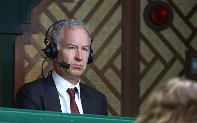<span>John McEnroe has previously suggested on-court warm-ups be abolished</span> <span>Credit: Getty images </span>