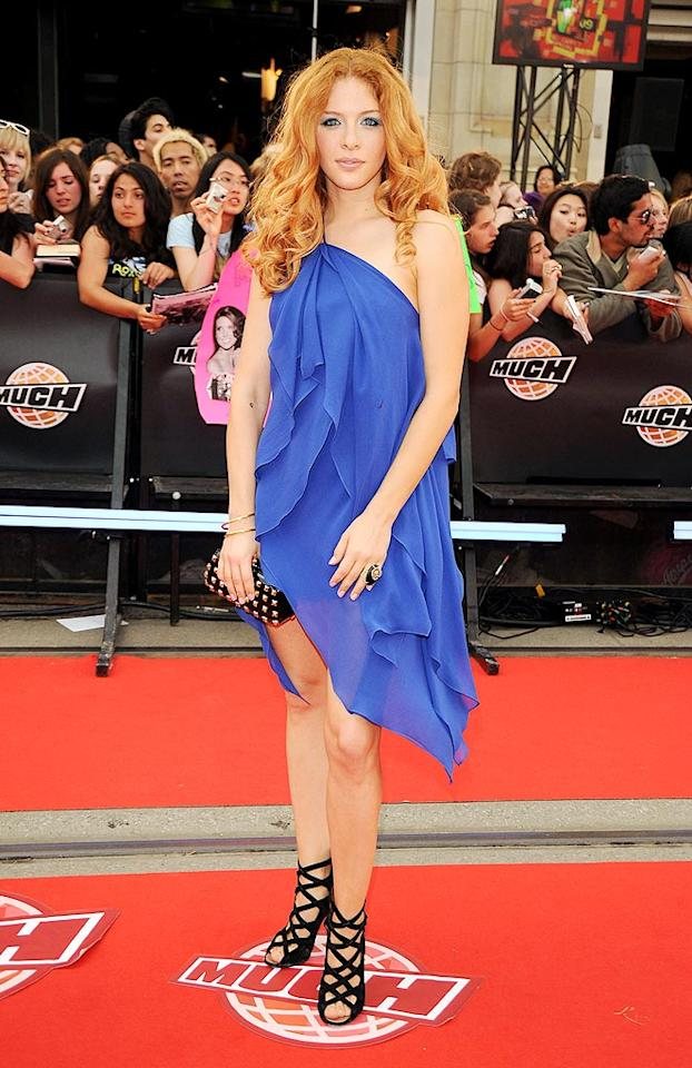 "Lautner's ""Twilight"" costar Rachelle Lefevre was on hand to introduce a performance by Kelly Clarkson. George Pimentel/<a href=""http://www.wireimage.com"" target=""new"">WireImage.com</a> - June 21, 2009"