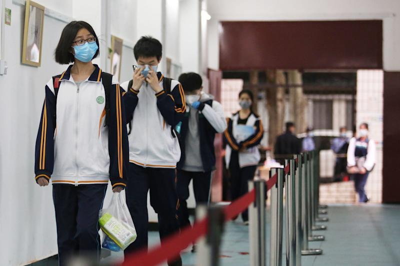 Children have returned to school in Wuhan (AFP via Getty Images)