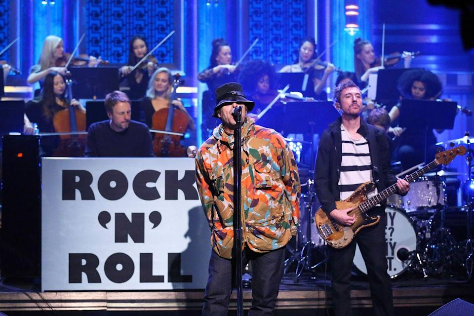 <p>Liam performs on The Tonight Show with Jimmy Fallon on October 28, 2019.</p>