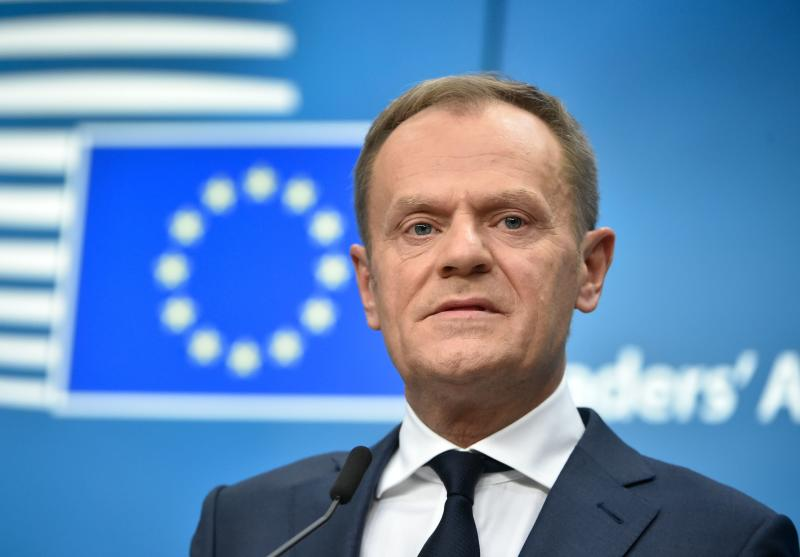 <strong>Theresa May's Brexit plan is 'pure illusion', Donald Tusk has warned.</strong> (JOHN THYS via Getty Images)