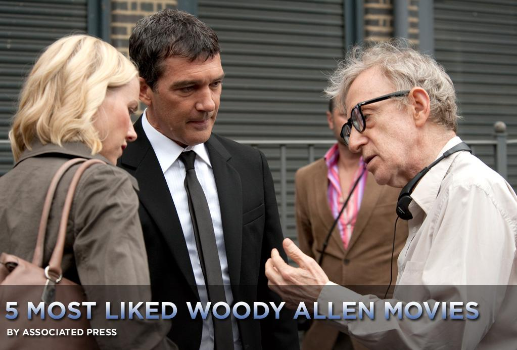 "When you make a movie a year, you're going to have your hits and misses. But when you've been making movies with a distinctive voice every year for more than four decades as Woody Allen has -- including this weekend's <a href=""http://movies.yahoo.com/movie/1810096268/info"">You Will Meet a Tall Dark Stranger</a> -- you're also going to garner a loyal following of fans who are passionate and protective of their favorites.   It's impossible to say definitively what Allen's top five films are, but here I humbly offer you the <a href=""http://movies.yahoo.com/news/movies.ap.org/5-most-liked-woody-allen-movies-ap"">five I like the most:</a>"
