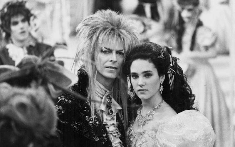 David Bowie and Jennifer Connelly in Jim Henson's Labyrinth - Moviepix/Getty