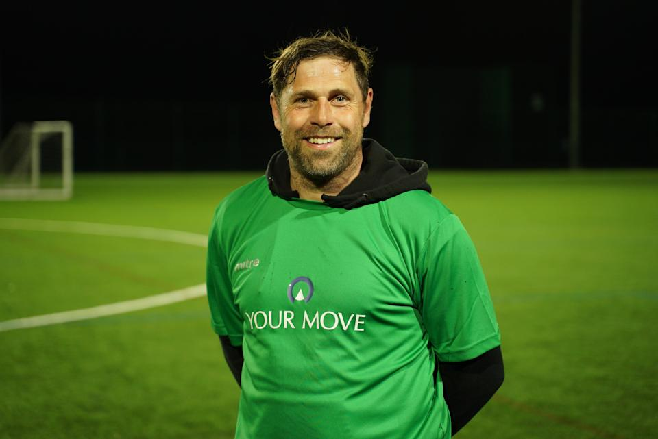 Former Norwich striker Grant Holt at an event for Your Move, promoting the 'Your Club, Your Kit' competition