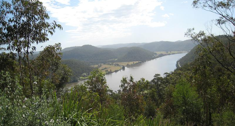 A body has been found at the Hawkesbury River (pictured is a stock image) after a man jumped from a cliff and failed to resurface.