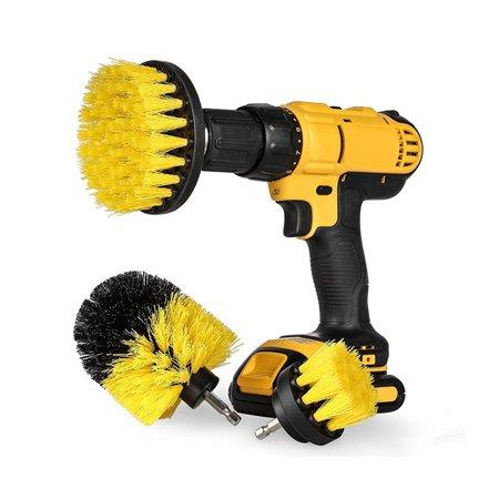 3Pcs Tile Grout Power Scrubber Set for Electric Drills (Photo: Walmart)