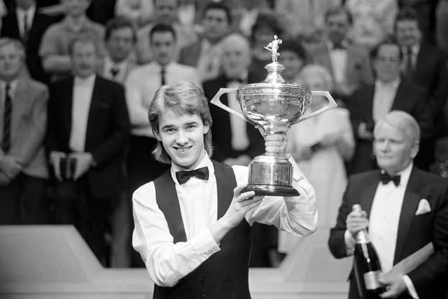 At the age of 21, Stephen Hendry beat Jimmy White 18-12 to become snooker's youngest world champion (PA)