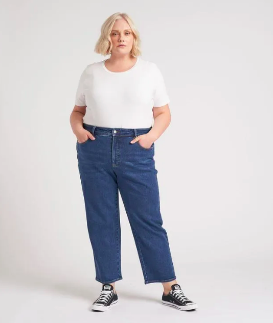 Etta High-Rise Straight Leg Jeans (Photo via Universal Standard)