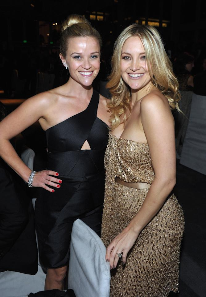 LOS ANGELES, CA - NOVEMBER 05: Actors Reese Witherspoon (L) and Kate Hudson attend LACMA Art + Film Gala Honoring Clint Eastwood and John Baldessari Presented By Gucci at Los Angeles County Museum of Art on November 5, 2011 in Los Angeles, California.  (Photo by John Shearer/Getty Images for LACMA)