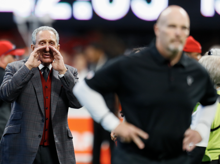 Arthur Blank has a lot to say about Dan Quinn. (Getty)