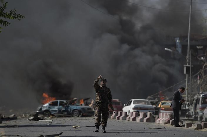 Germany suspended the controversial expulsions after a sewage tanker packed with explosives detonated near the German embassy in Kabul's diplomatic quarter on May 31, killing around 150 people and wounding hundreds more (AFP Photo/SHAH MARAI)