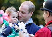 <p>William with his daughter Princess Charlotte at a children's party for Military families during the Royal Tour of Canada in September 2016 in Carcross. (Chris Jackson - Pool/Getty Images)</p>
