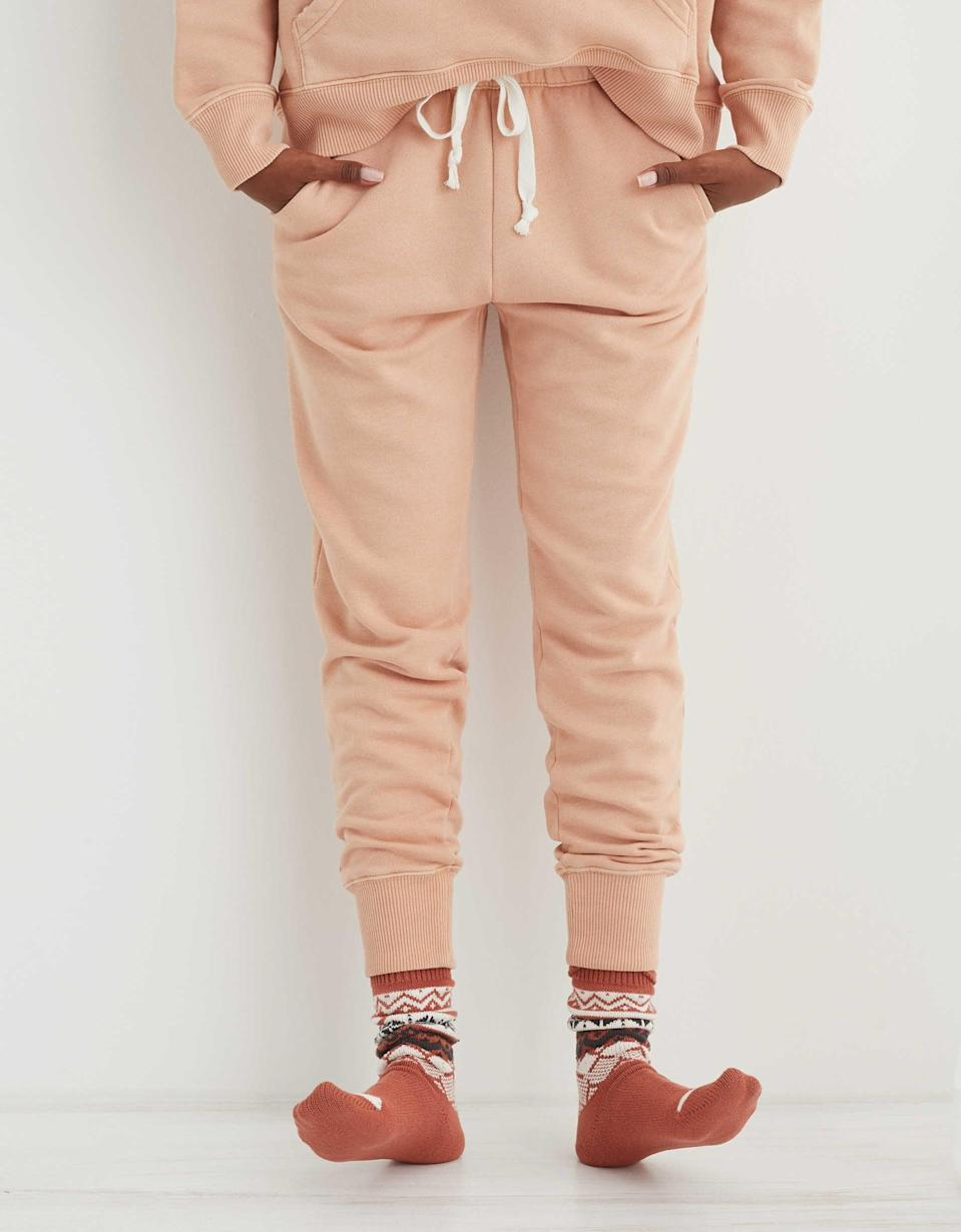 """<p>""""I love that these <span>Aerie Weekend Joggers</span> ($30, originally $40) are baggy on the top and more tapered at the bottom to give a more sporty look.""""</p>"""