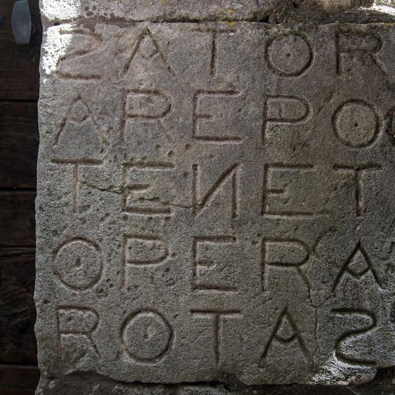 Another Sator square, found in rural Vaucluse in France - Alamy