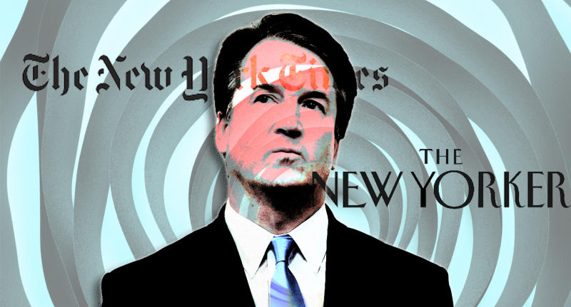 Supreme Court Justice Brett Kavanaugh. (Photo illustration: Yahoo News; photo: Susan Walsh/AP)