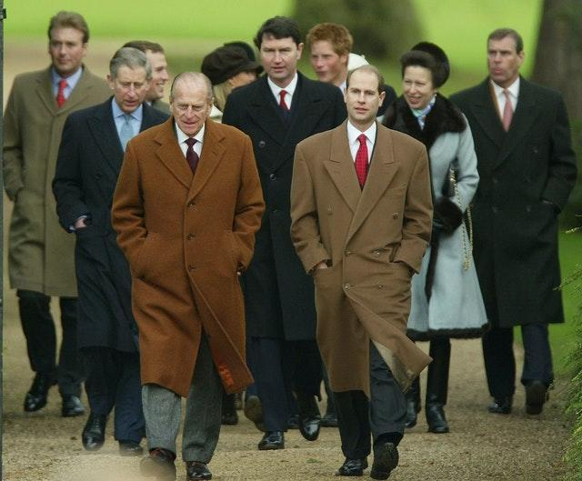 The royal family attending church on Christmas Day