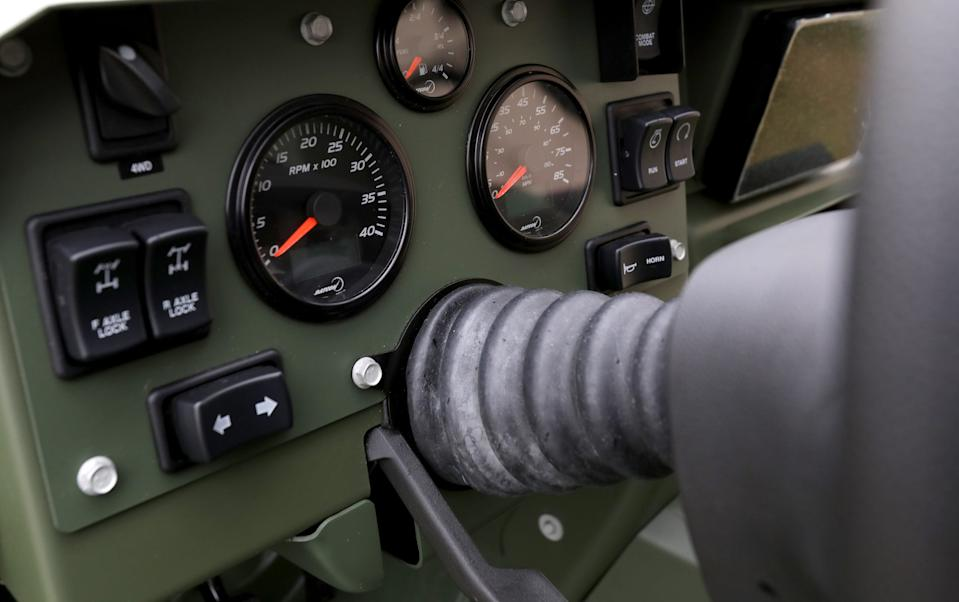 The instrument panel in the General Motors Defense new Infantry Support Vehicle (ISV).
