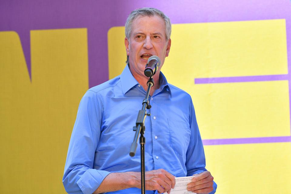 FILE: Mayor Bill de Blasio has asked New Yorkers to not from Amazon and instead buy from local stores (Getty Images for New 42)