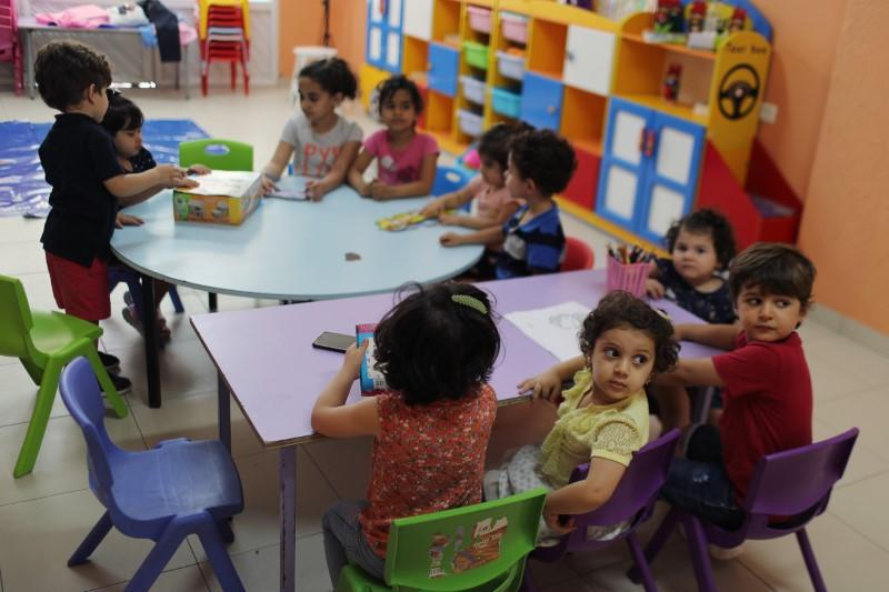 Gaza nursery schools reopen as Palestinians ease COVID-19 restrictions, in Gaza City