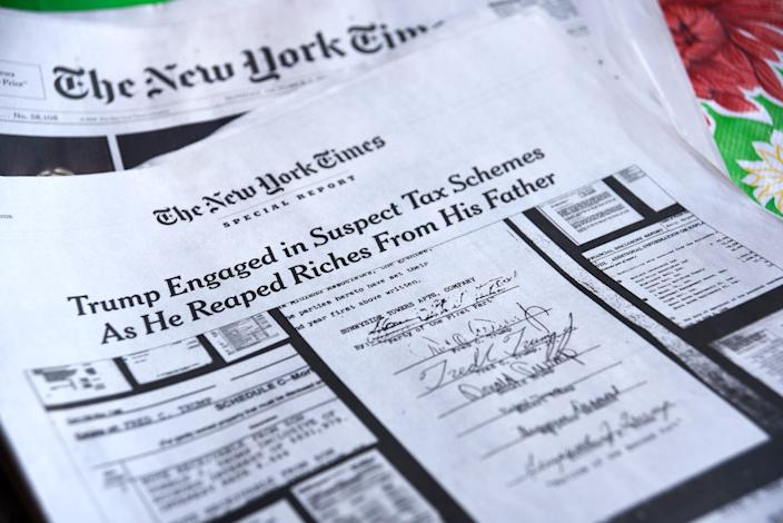 A special report in the October 7, 2018 edition of The New York Times investigates suspect tax schemes used by Donald Trump and his father, Fred Trump, to avoid paying taxes.