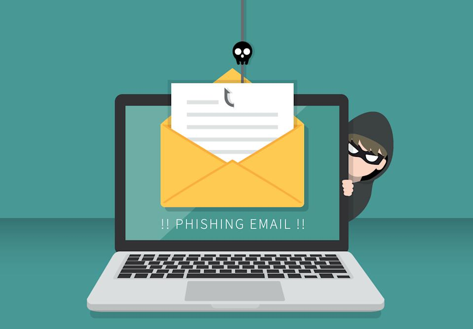 Phishers bait you with a bogus email containing links to malware. (Photo: Getty)
