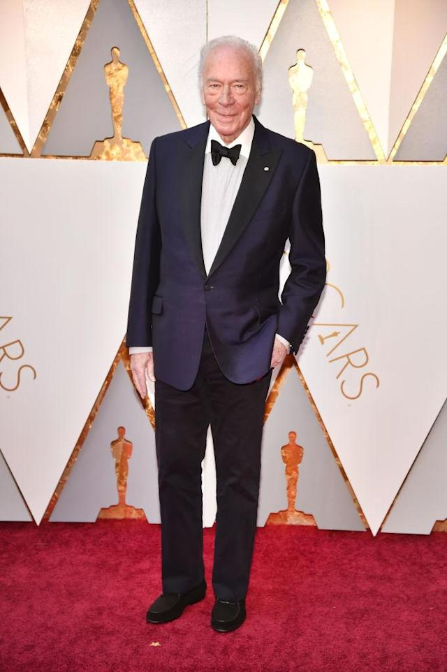 <p>Christopher Plummer attends the 90th Academy Awards in Hollywood, Calif., March 4, 2018. (Photo: Getty Images) </p>