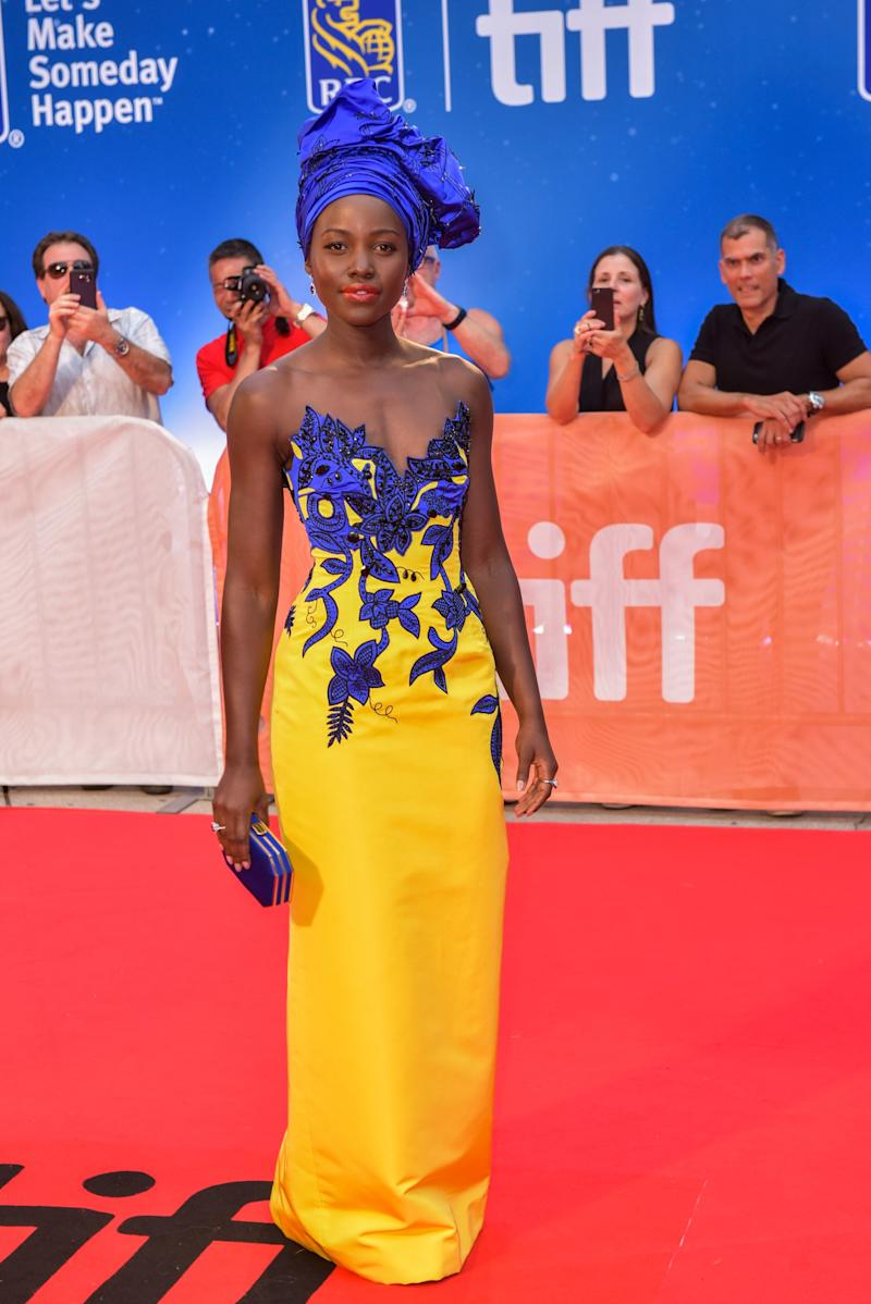 Lupita Nyong'o in Carolina Herrera at the premiere of Queen of Katwe at the Toronto International Film Festival in Toronto, Canada, September 2016.