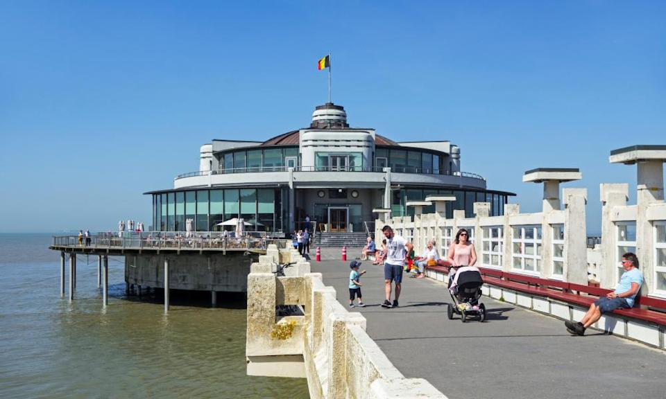 The art deco pier at Blankenberge.