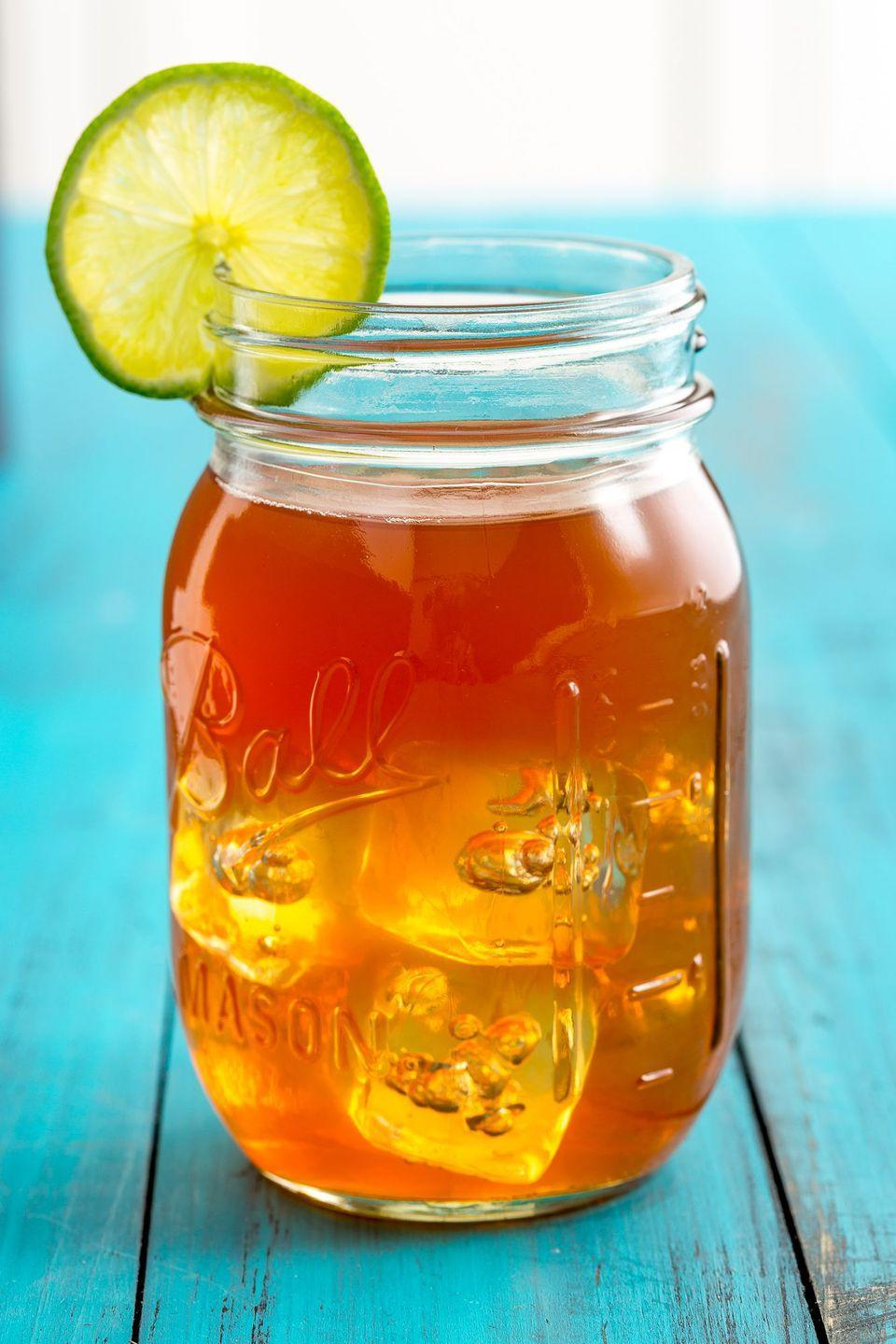 "<p>A classic Arnold Palmer gets a makeover in this summer mocktail. Add a dash grenadine to your lemonade-iced tea mix for an extra sweet kick.</p><p><strong><em>Get the recipe from <a href=""https://www.delish.com/cooking/g3452/easy-twists-on-lemonade/"" rel=""nofollow noopener"" target=""_blank"" data-ylk=""slk:Delish"" class=""link rapid-noclick-resp"">Delish</a>.</em></strong></p>"