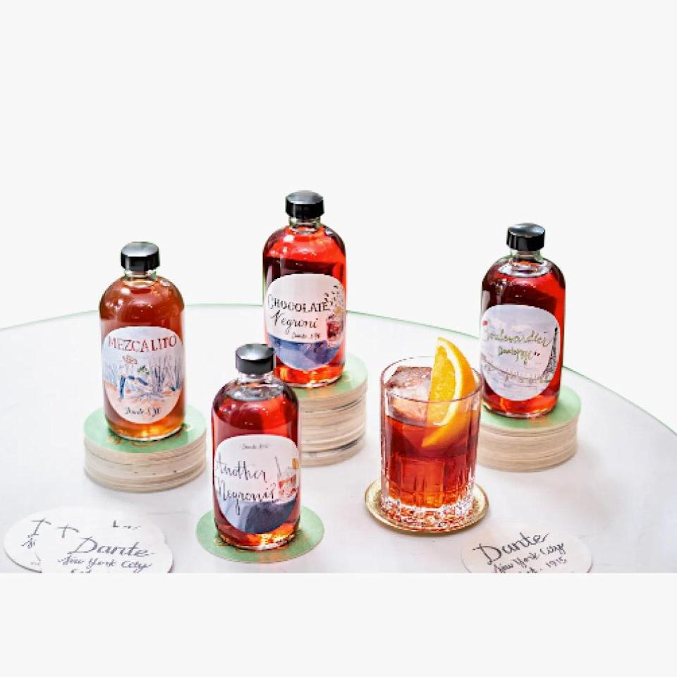 """Dante makes some of the best cocktails in the world and you can buy them pre-made online. No matter the circumstances, you'll be able to have that perfect negroni. $125, Dante NYC. <a href=""""https://www.dante-nyc.com/store/product/the-negroni-sessions/"""" rel=""""nofollow noopener"""" target=""""_blank"""" data-ylk=""""slk:Get it now!"""" class=""""link rapid-noclick-resp"""">Get it now!</a>"""