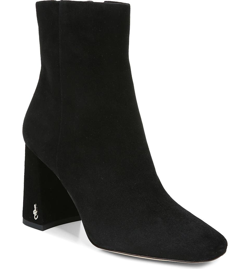 <p><span>Sam Edelman Codie Square Toe Bootie</span> ($60, originally $150)</p>