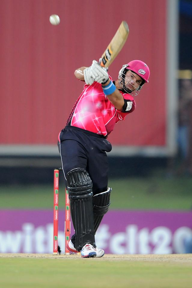 PRETORIA, SOUTH AFRICA - OCTOBER 26: (SOUTH AFRICA OUT) Michael Lumb of Sydney Sixers during the Karbonn Smart CLT20 Semi Final match between Nashua Titans and Sydney Sixers at SuperSport Park on October 26, 2012 in Pretoria, South Africa. (Photo by Lee Warren/Gallo Images/Getty Images)