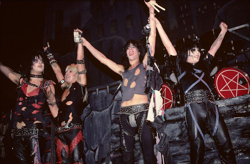 <p>The band was equally known for their music as their backstage antics, outrageous clothing, extreme hair and makeup, and seemingly endless abuse of alcohol and drugs.</p>