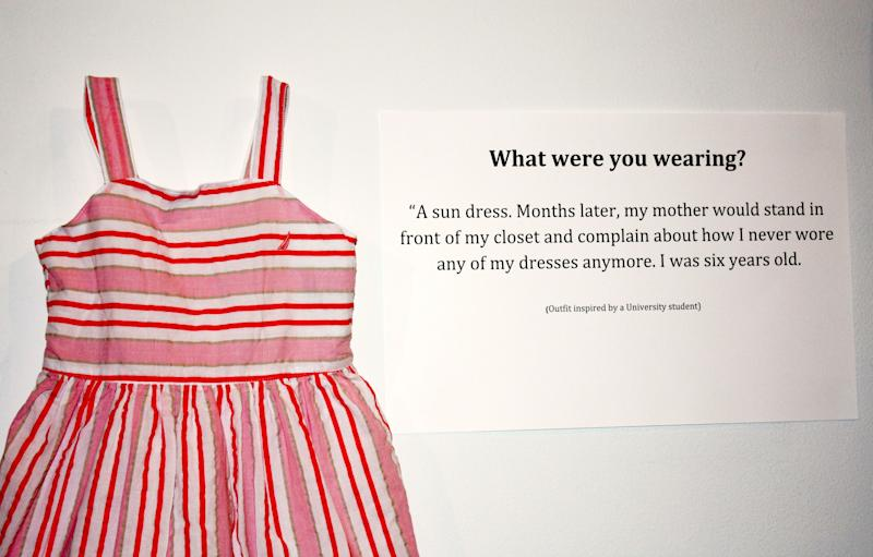 "<strong>What were you wearing?</strong> ""A sun dress. Months later, my mother would stand in front of my closet and complain about how I never wore any of my dresses anymore. I was six years old."""