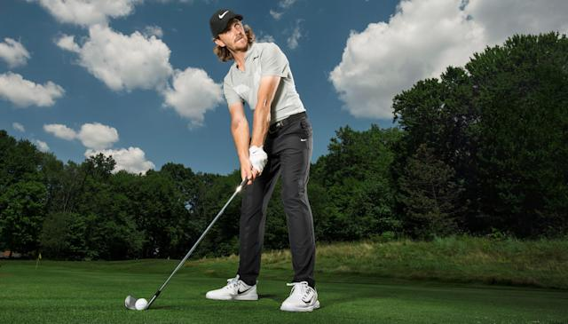 """<div class=""""caption""""> 'Don't fixate on keeping your head down. Focus on keeping your spine angle consistent to the finish.' </div> <cite class=""""credit"""">Dom Furore / Golf Digest</cite>"""