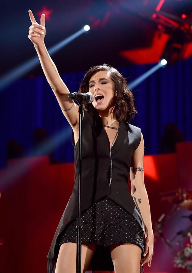 <p>Christina Grimmie, a singer who rose to prominence on The Voice, was killed when a man shot her after one of her concerts on June 10. She was 22. — (Pictured) Singer Christina Grimmie performs onstage at the 2015 iHeartRadio Music Festival at MGM Grand Garden Arena in Las Vegas, Nevada. (Kevin Winter/Getty Images for iHeartMedia) </p>
