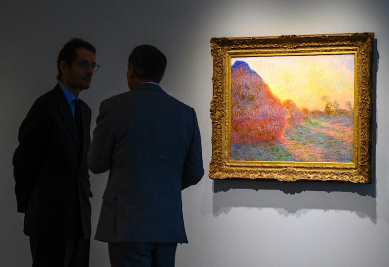 Claude Monet haystack painting fetches $168.7m at auction