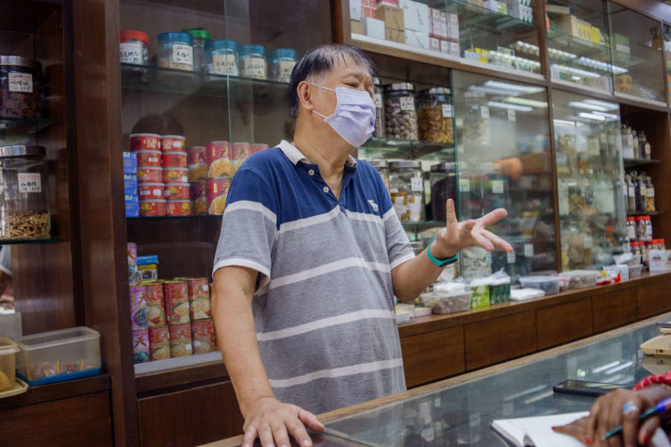 Low Pak Koon, 70, said a one-month deferment of the ban is pointless. — Picture by Shafwan Zaidon