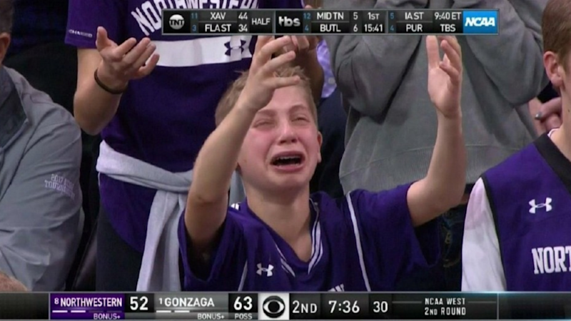 March Sadness: Crying Northwestern kid becomes internet sensation