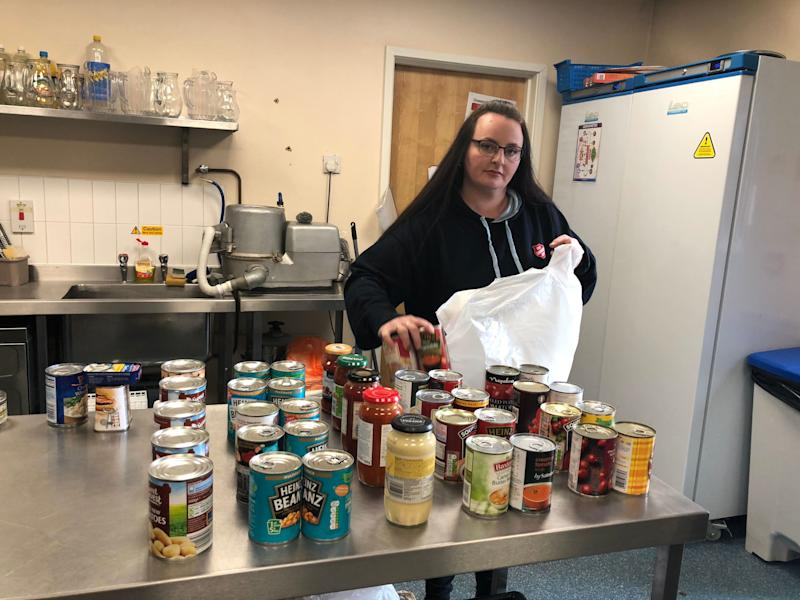 Natalie Thomas, community centre assistant at the Salvation Army foodbank in Preston (Photo: HuffPost UK)