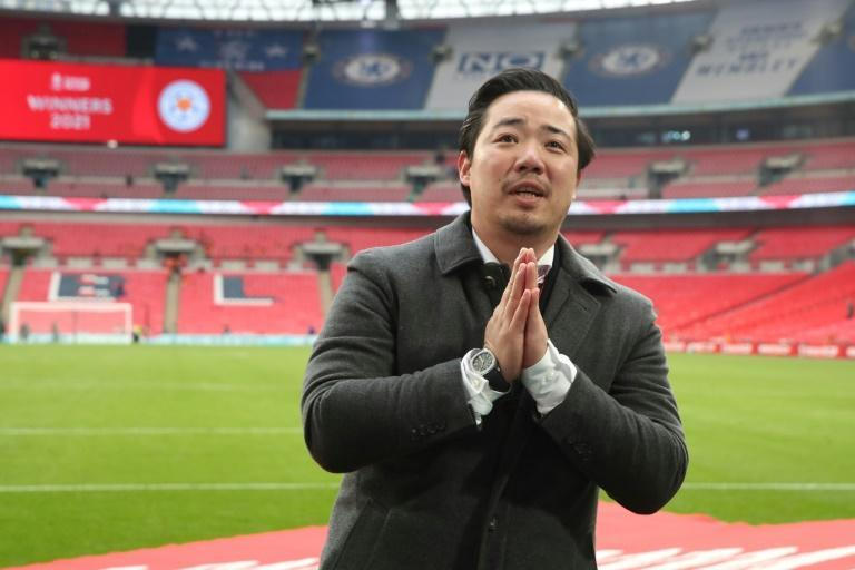 Day to remember: Leicester City chairman Aiyawatt Srivaddhanaprabha after the FA Cup final win over Chelsea