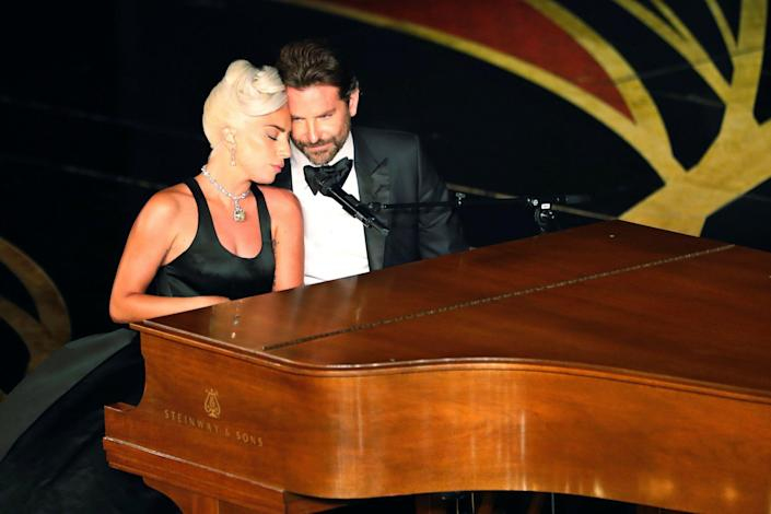 Shallow: The pair were swarmed with speculation over their