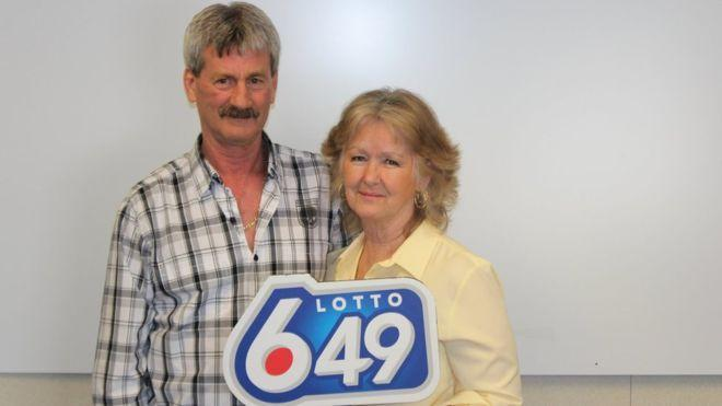 Barbara and Douglas Fink won the lottery for the third time on 22 February: Western Canada Lottery Corporation