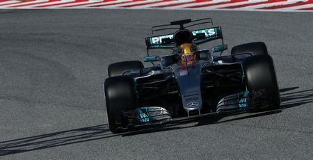 Formula One - F1 - Test session - Barcelona-Catalunya racetrack in Montmelo, Spain - 9/3/17. Mercedes' Lewis Hamilton in action. REUTERS/Albert Gea