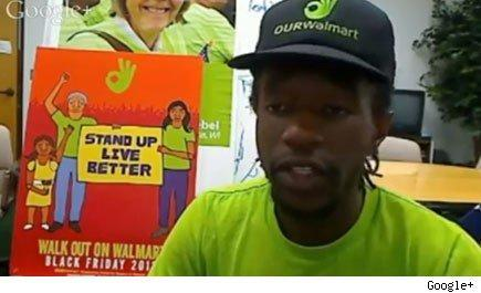 Walmart worker Colby Harris on Lunchtime Live