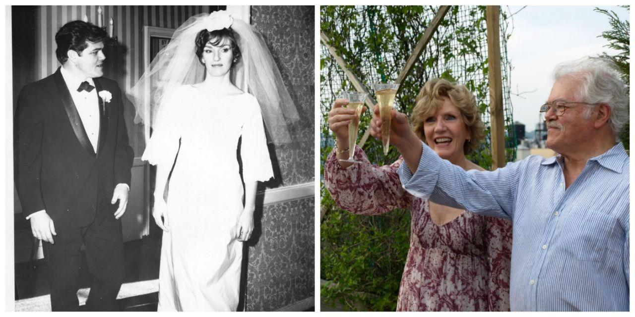 """<p><em><strong>Married: </strong>1967</em></p><p><em><strong>Divorced: </strong>1998</em></p><p><em><strong>Remarried: </strong>2010</em></p><p>Ben Bryant and Elizabeth Hepburn met during a summer stock production of <i>Carousel</i>, and their subsequent love story is one that's worthy of the stage itself. Four months to the day after they first laid eyes on each other, they married. Twenty-plus years later, Elizabeth felt the urge to get out. """"My primary motivation in our breaking up was to find myself,"""" says Elizabeth. """"I felt that we both needed to live separately to hear our own voice and truth."""" Ben, on the other hand, longed to stay together. """"I never wanted to separate,"""" he says, """"but she wanted to go and I couldn't stop her."""" In his heart, though, he knew she was the only woman for him and that he had to get her back. So he bided his time, slowly working his way back into her life, on her timeline. Their New York apartments were only a block from each other, which made it easier. Things progressed after 9/11. """"It was just a devastating event,"""" says Elizabeth, describing how it made her examine her life and want to hold all the people she loved closer.  """"Ben was right there and I knew I had to open up to those feelings."""" Soon after, they began """"dating,"""" and in 2005, they moved back in together. In 2015, Ben wrote a book about their experience, called <i><a rel=""""nofollow"""" href=""""https://www.amazon.com/Waiting-Elizabeth-My-Journey-Book-ebook/dp/B00TKAK1XM/ref=sr_1_2?tag=syndication-20"""">Waiting for Elizabeth</a></i>. In it he writes, """"Once again I'm a happily married man. I like my second wife even more than I liked the first one and I suspect she'd say the same for her husbands.""""</p><p><strong><em>What was your dating life like after your divorce?</em></strong></p><p><strong>Ben:</strong> For the first year or so I was a hermit pretty much except for work. Then my friends started fixing me up. I went out once or twice with several attractive women, but there was"""